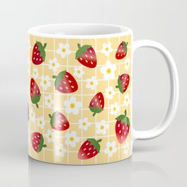 Sweet Strawberries - yellow Coffee Mug