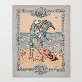 Sailor and Merman Canvas Print