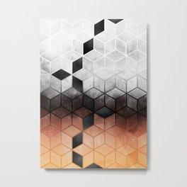 Ombre Concrete Cubes Metal Print