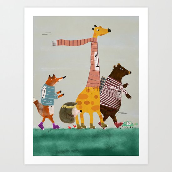 the fun run Art Print