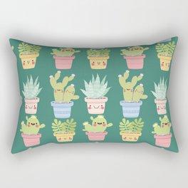 Succulents and Cactus Party Rectangular Pillow