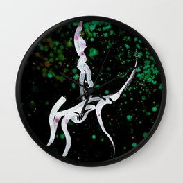 A Tarot of Ink 12 Knight of Wands Wall Clock