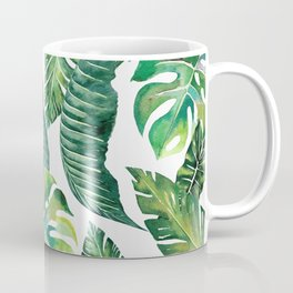 Jungle Leaves, Banana, Monstera #society6 Coffee Mug
