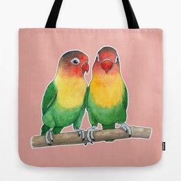 Fischer's lovebirds Tote Bag