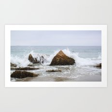 Waves Crash Art Print
