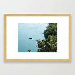 Fishersboat in Uganda Framed Art Print
