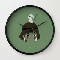 mononoke Wall Clocks featuring Mononoke, 1997 by Jarvis Glasses