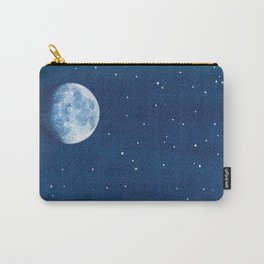 Moon Phase, teal watercolor Carry-All Pouch