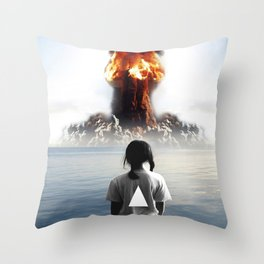 Nuke My Home Throw Pillow