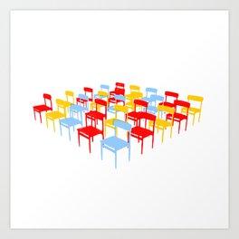 25 Chairs Art Print