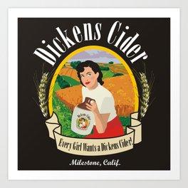 Dickens Cider - Every Girls Likes A Dickens Cider! Kunstdrucke