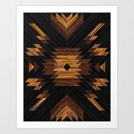 Urban Tribal Pattern No.7 - Aztec - Wood Art Print