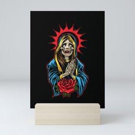 La Calavera Catrina Praying - Santa Muerte Mini Art Print