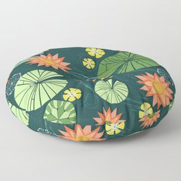 Lily pad pond Floor Pillow