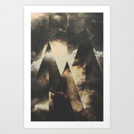 The mountains are awake Art Print