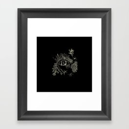 The eye watching you Framed Art Print