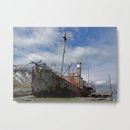 Whaling Ship Metal Print
