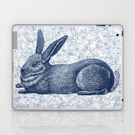 Rabbit print, Vintage Rabbit, Animal Wall Art Laptop & iPad Skin