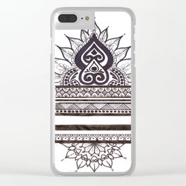 Mandala, Lines, and Dots Clear iPhone Case