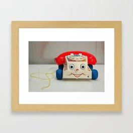 Fisher Price Telephone Framed Art Print