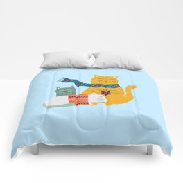 Cat cuddle -Hand Draw Comforters