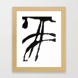 0523: a simple, bold, abstract piece in black and white by Alyssa Hamilton Art Framed Art Print
