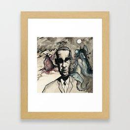 HP Lovecraft: Master of Strange Framed Art Print