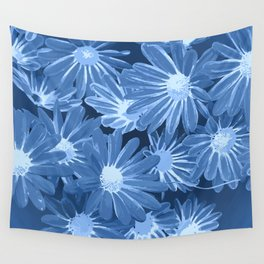 Duotone Flowers Wall Tapestry