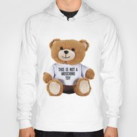 moschino Hoodies featuring TEDDY BEAR PARFUM MOSCHINO by Claudio Velázquez