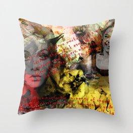 Edie ft. Twiggy Throw Pillow