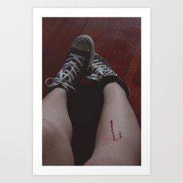 blood is beautiful Art Print