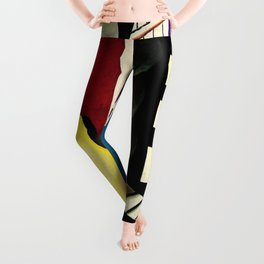 The City - La Ville by by Fernand Léger Leggings