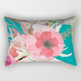 Flowers , floral , shabby chic décor,  flower decor , Rectangular Pillow