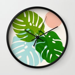 Abstraction_FLORAL_NATURE_Minimalism_001 Wall Clock