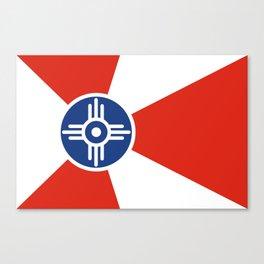 Wichita Kansas city flag united states of america Canvas Print