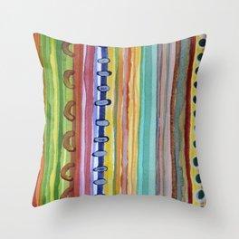 Striped Curtain Throw Pillow