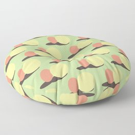 Minimal Shadow Play Red Yellow Green Floor Pillow