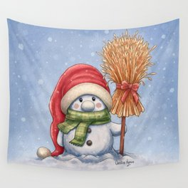 A little snowman Wall Tapestry