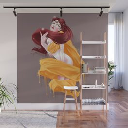 Woman with third eye Wall Mural