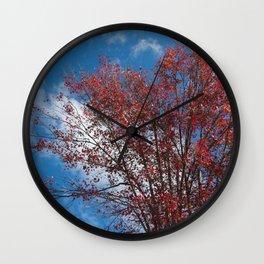 Menominee Red Wall Clock