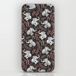 Laughing Baby Elephants - Coral iPhone Skin