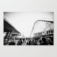 boardwalk empire Canvas Prints featuring Boardwalk by Santino Cabrales