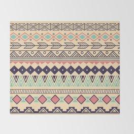 Aztec pattern 02 Throw Blanket
