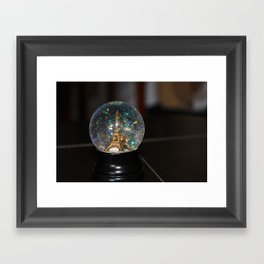 Paris in a Snow Globe  Framed Art Print