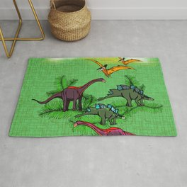Dino Forest Rug