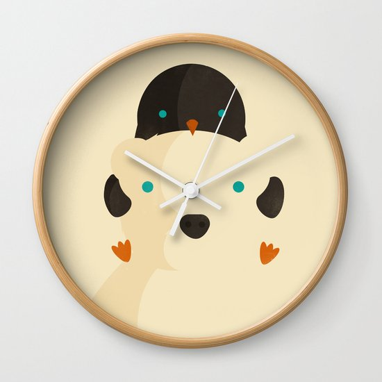 Snow Buddies Wall Clock