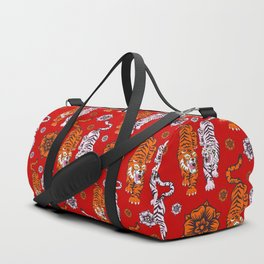 Tigers pattern 4 Duffle Bag