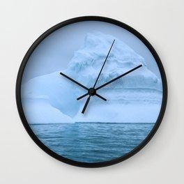 Visions of Blue II Wall Clock