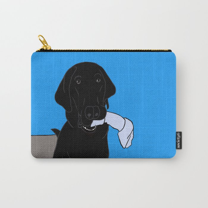 Black Lab With A Bone Carry-All Pouch