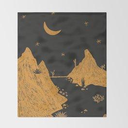 Desert Landscape Throw Blanket